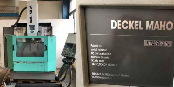 二手瑞士万能加工中心DMG DMU 50 M,DECKEL MAHO进口手续